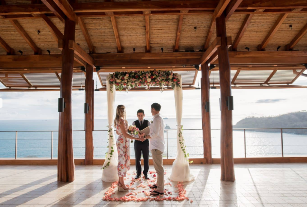 Wedding amidst paradise