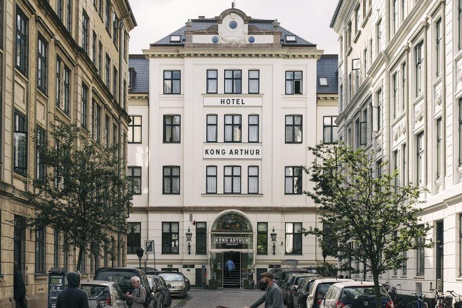 facade of Hotel Kong Arthur in Copenhagen